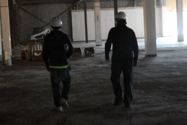 Chris Greene Inc. Construction Team on site